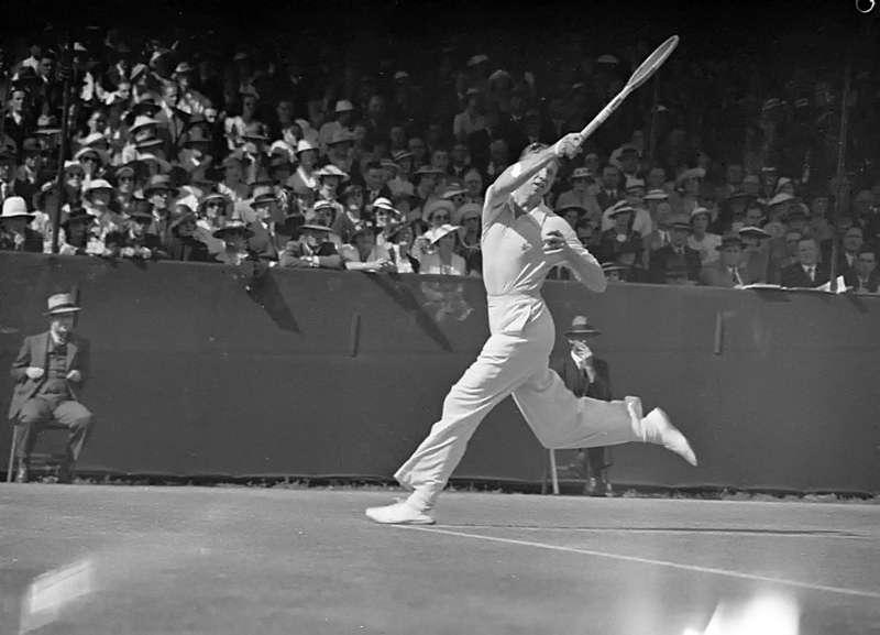 American tennis player Don Budge at the White City Stadium, Sydney, 1937