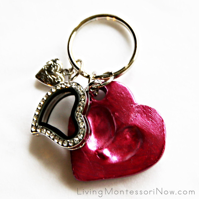 Thumbprint Keepsake Keychain