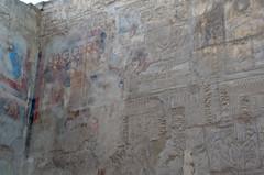 Roman Plaster Over Egyptian Reliefs