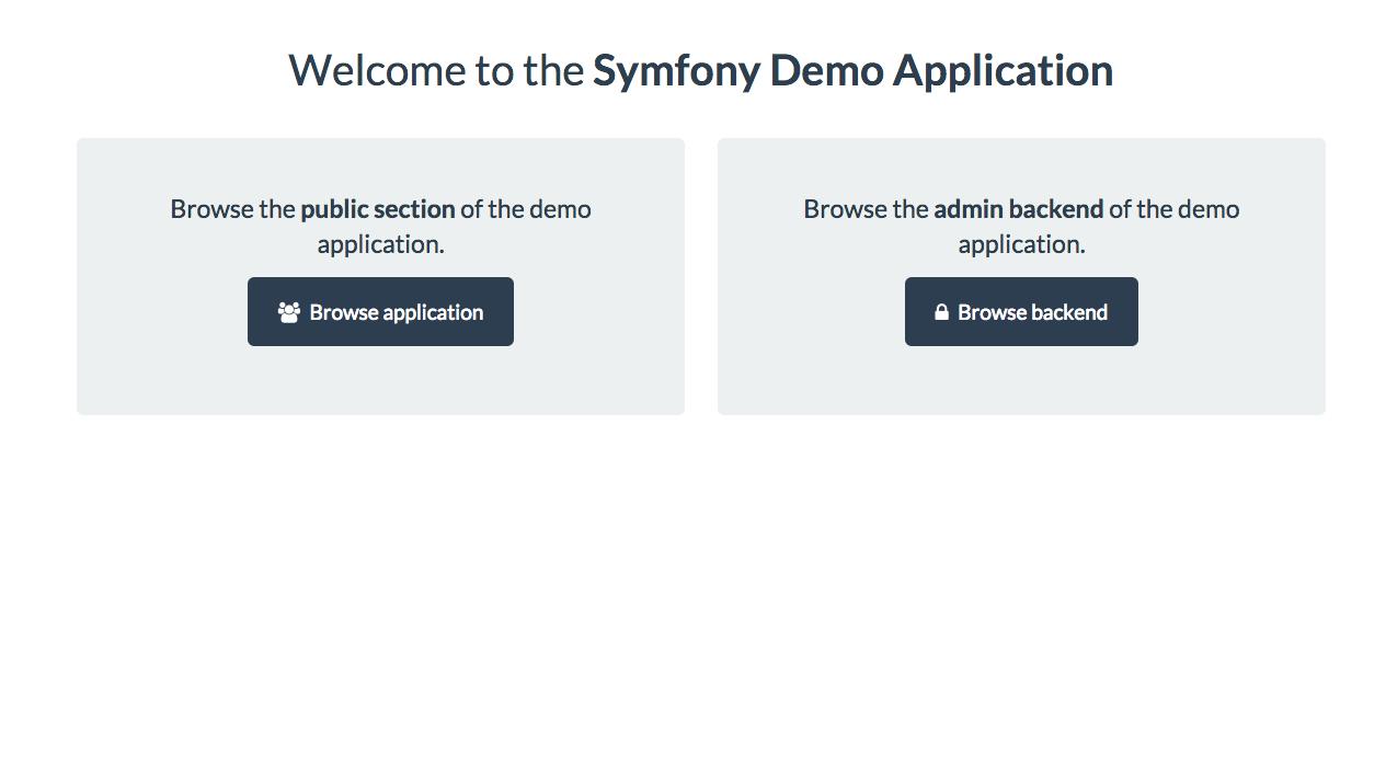 Symfony Demo Homepage