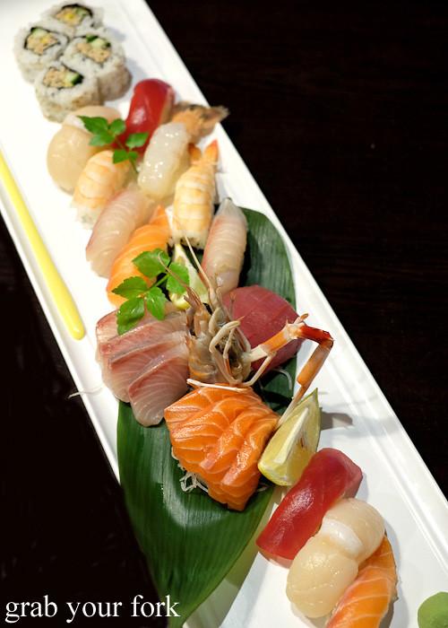 Sushi and sashimi sailing boat at Ashin, Campsie