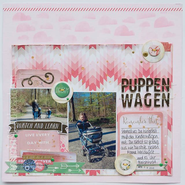 Scrapbook Layout - Puppenwagen