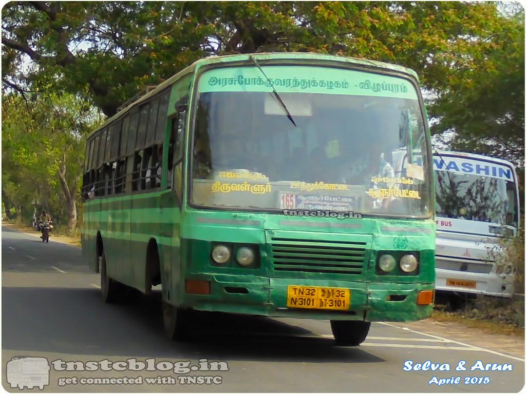 TN-32N-3101 of Uthukkottai Depot Route 165 Tiruvallur - Sullurpeta via Uthukkottai, Sathyavedu, Tada