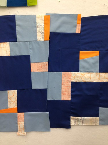 Class work from Floating Squares workshop with Sherri Lynn Wood at QuiltCon2015