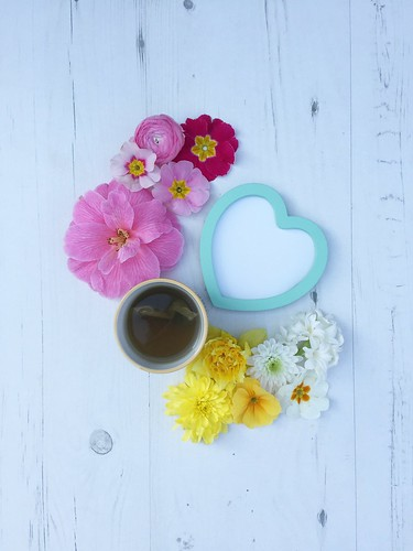 Cup of Tea with Flowers & Heart | by Lucy Djevdet