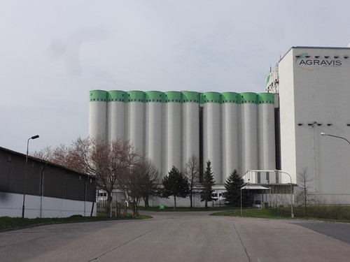 um 1978/81 Querfurt Silobatterie Kraftfuttermischfutterwerk Obhäuser Weg 9 in 06268