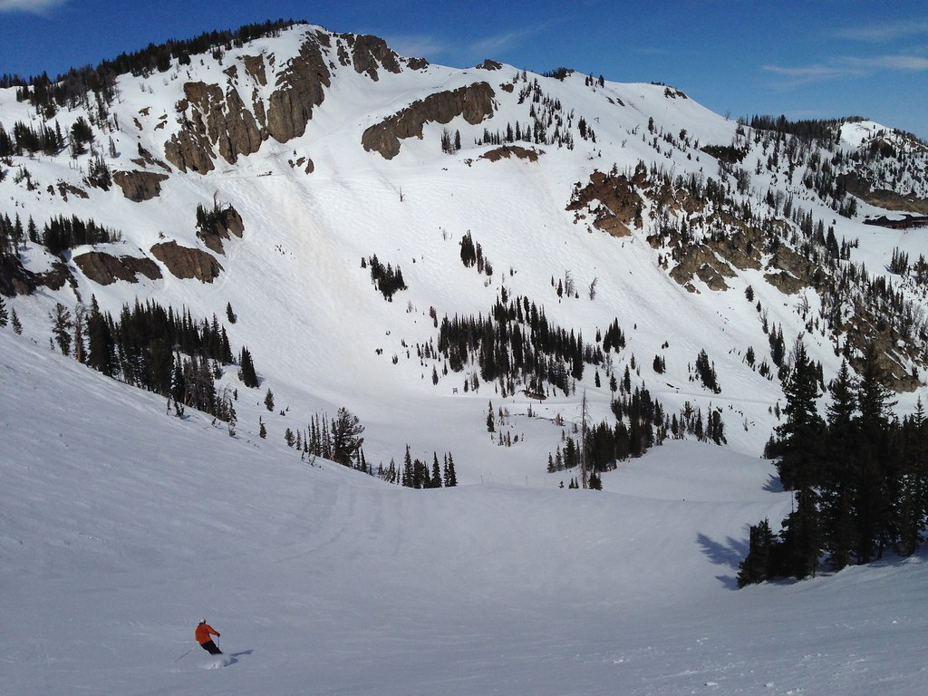 Skiing down Amphitheater