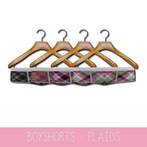 {MYNX} Boyshorts Pack - Plaid