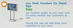 Live Chair Furniture Co Retail Sign