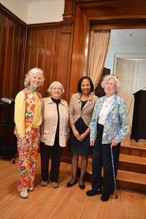 023_FundraiseApr2015-Martha Mathews, Reba Lippincott, Lynda Woods Cleary, and Barbara Broad