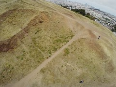 135/365: Drone Moments on top of Bernal Heights Park // AR Drone 2 View with GoPro Hero3+ mounted // 2015 In 365 Photos Project 365 Bernalwood at Bernal Hill