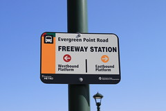 Evergreen Point Freeway Station signage