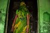 behind green, holi portrait,Nangdaon, India