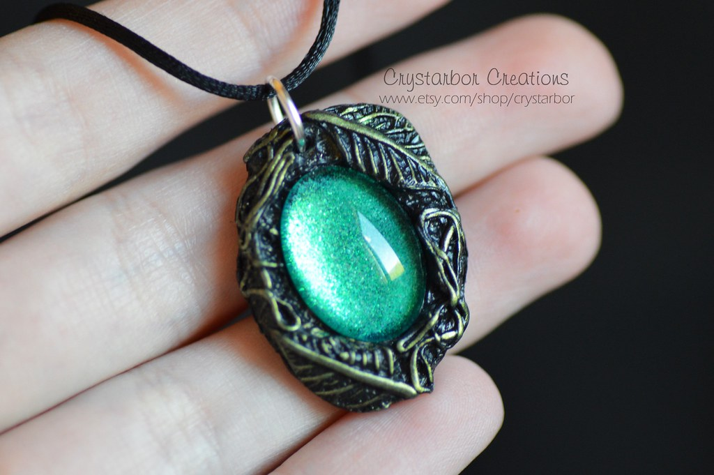 Crystarbor creationss most interesting flickr photos picssr elven leaf woodland necklace lord of the ring jewelry woodland enchanted botanical elf green aloadofball Image collections
