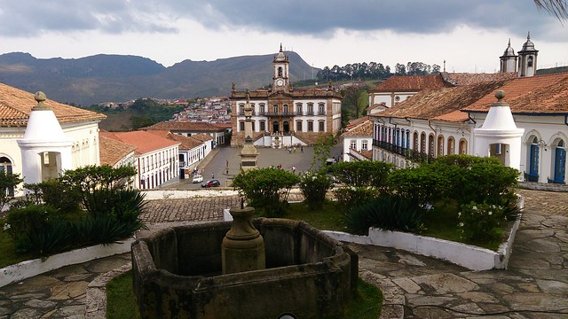 Vista da praça do Tiradentes