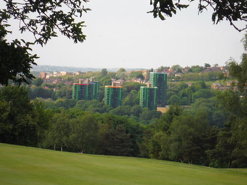 Colourful Highrises, from the Gleadless Valley