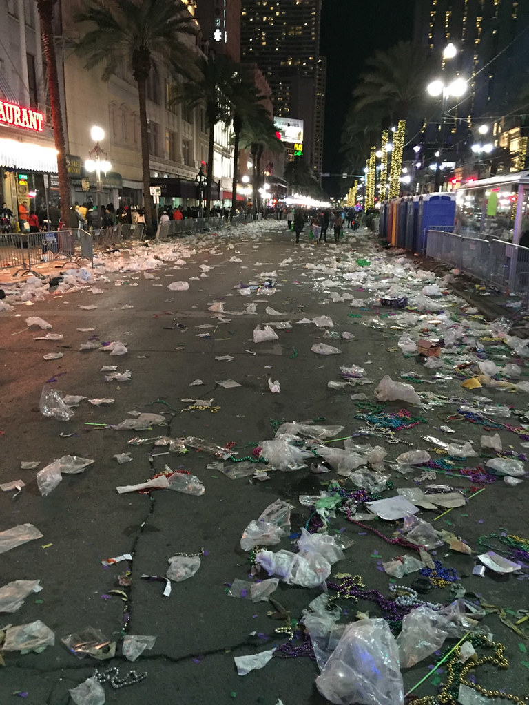 After the Mardi Gras parade ends