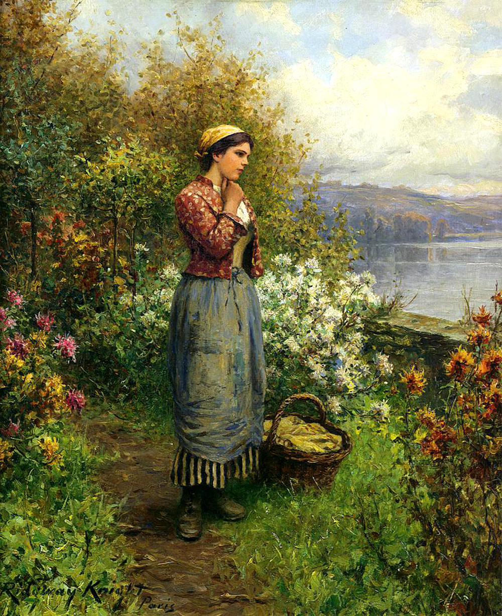 Julia on the Terrace by Daniel Ridgway Knight, 1909