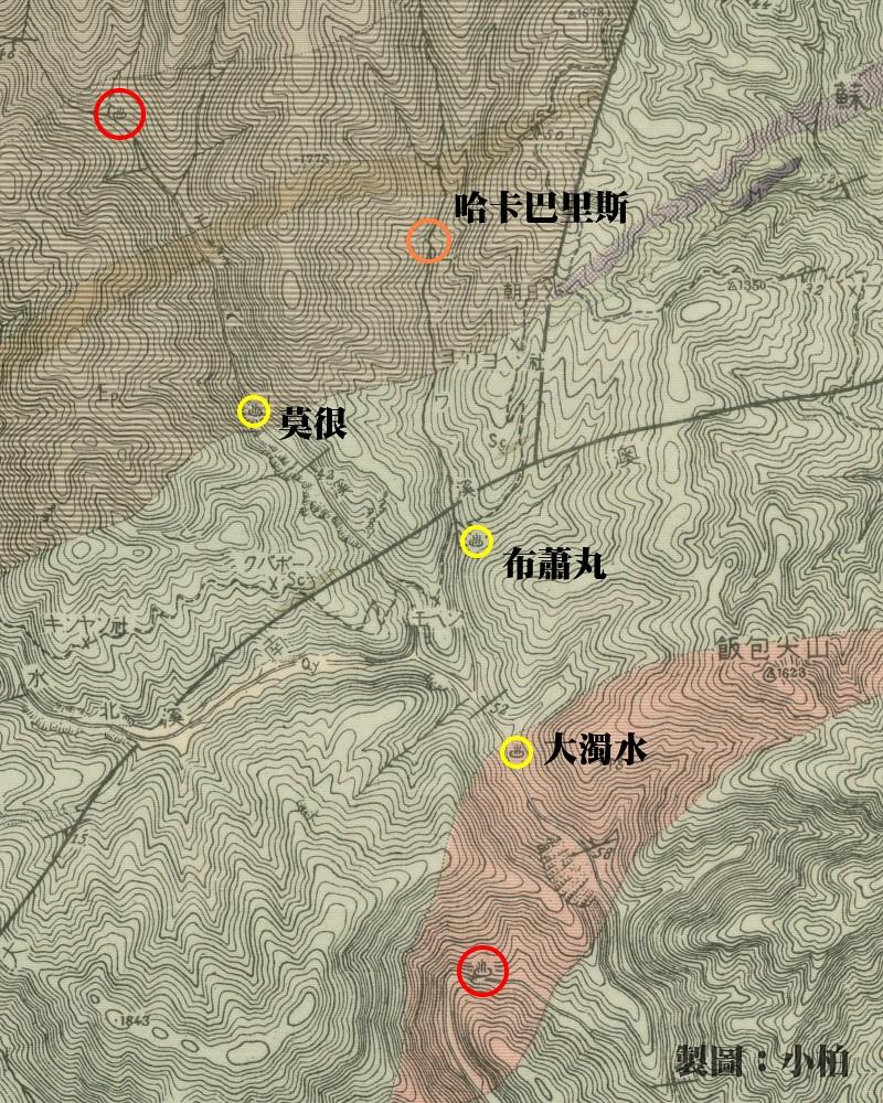 和平溪溫泉_日治大南澳地質圖