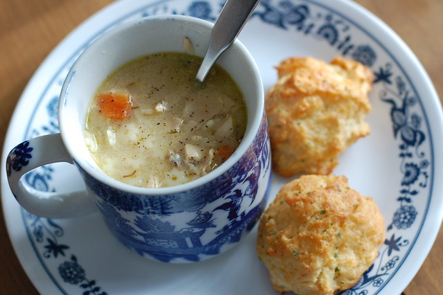 soup & biscuits