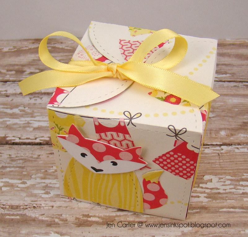 Jen Carter Petal Card Die Fox Box Above