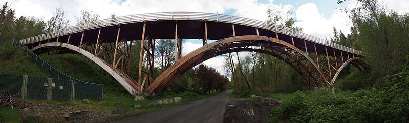 Wooden Arch Bridge: This carries the Foothills Trail over South Prairie Creek