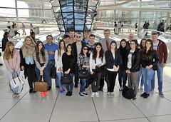 Schülerinnen und Schüler des Berufskolleg Werther Brücke am 20.04.2015 zu Besuch im Bundestag