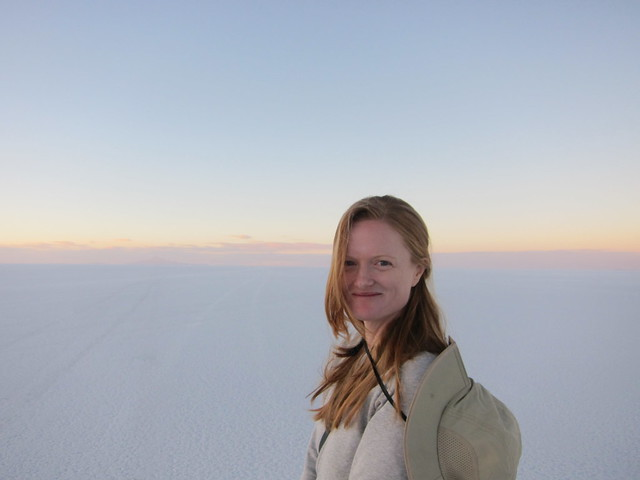 Kate on the Salar de Uyuni