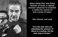 As we celebrate International Women\'s Day, let us honor the great Golda Meir, Prime Minister of Israel between 1969 and 1976.