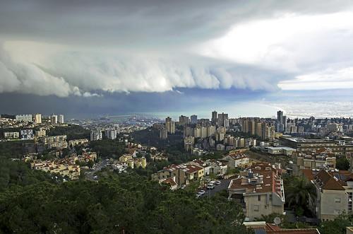 sea panorama storm weather clouds israel cityscape ngc haifa urbanlandscape nikon1755 inexplore nikond7000