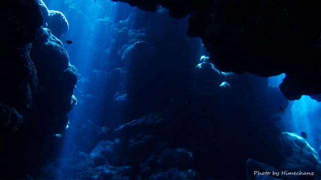 洞窟の光もきれいでした!