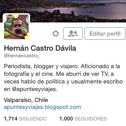 1.000 seguidores en Twitter 🎉🎊