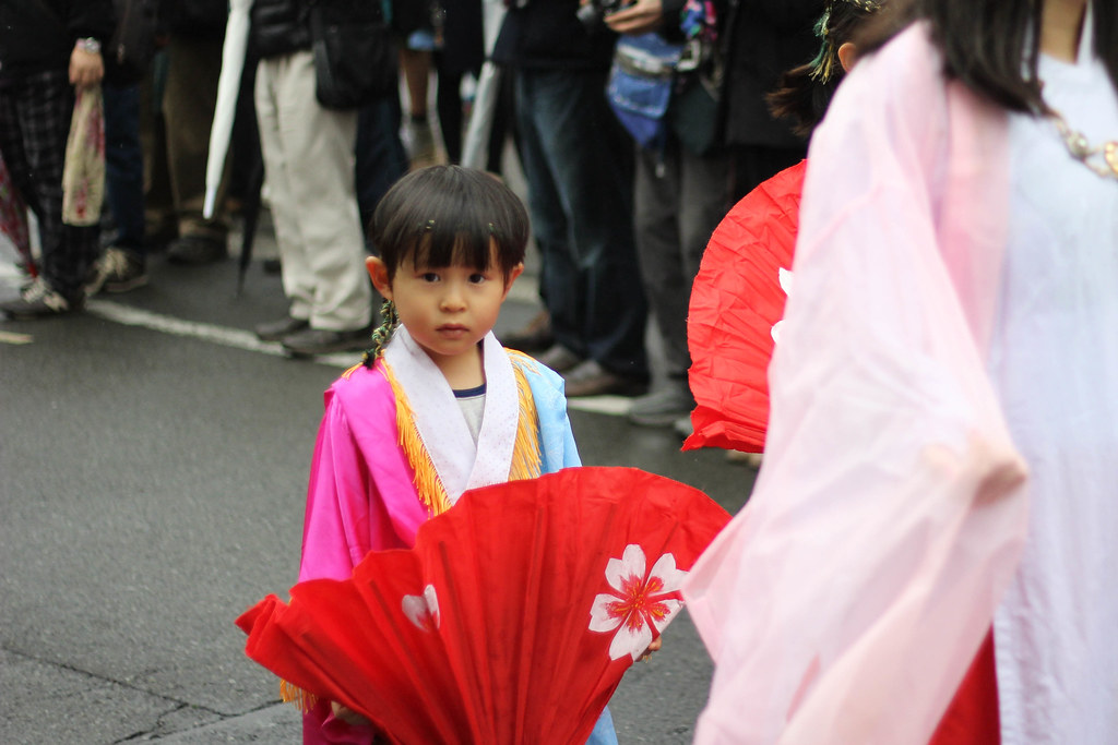 little boy at festival