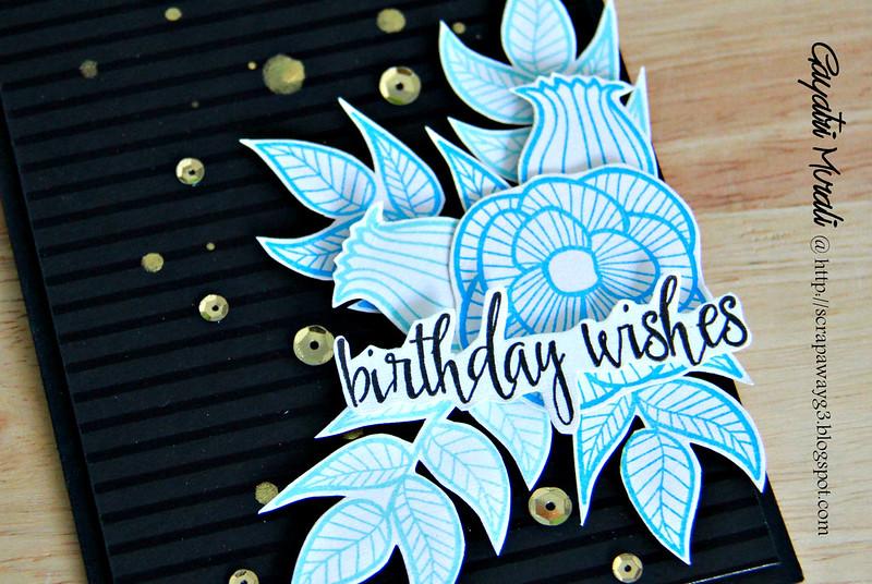 Birthday wishes closeup