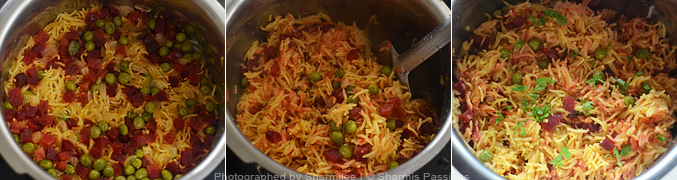How to make capsicum rice - Step4