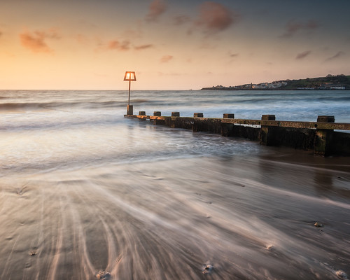 longexposure sea england beach sunrise landscape dawn coast seaside lowlight waves unitedkingdom tide coastal dorset gb groyne swanage tidal