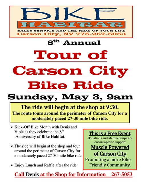 Bike Habitat's Tour of Carson City 2015