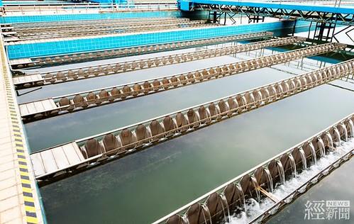 鳳山汙水廠民生汙水回收再利用。(圖片來源:經濟部)