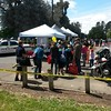Kids day in the park, bicycle safety, bicycle obstacle course