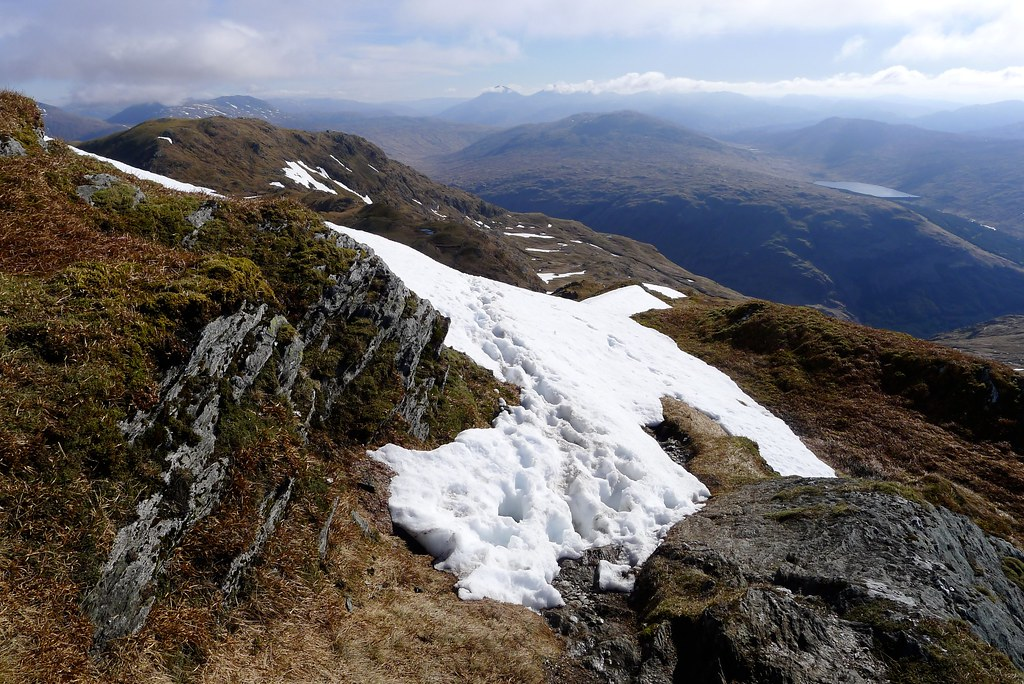 Top of the snow slope on Beinn Bhuidhe