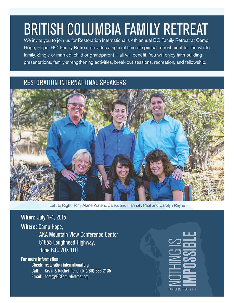 FAMILY RETREAT - NOTHING IS IMPOSSIBLE - JULY 1-4,2015