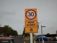 Drive slowly - free range humans