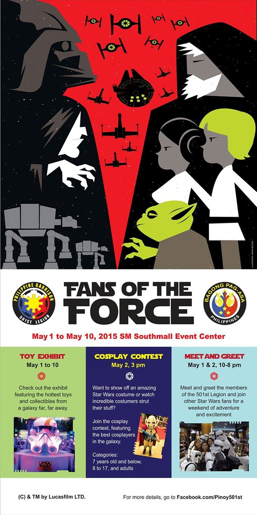 Fan of the Force–a Star Wars event in SM Southmall this May 1-2