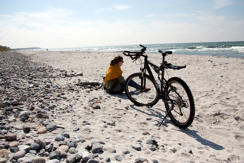 with the bikes on hiddensee