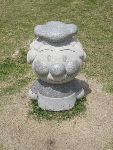 中京競馬場のジャムおじさん石像