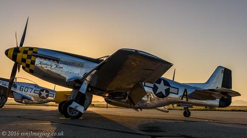 california sunrise airshow hdr chino lightroom planesoffame p51dmustang nikond810 kimberleykaye nl451tb