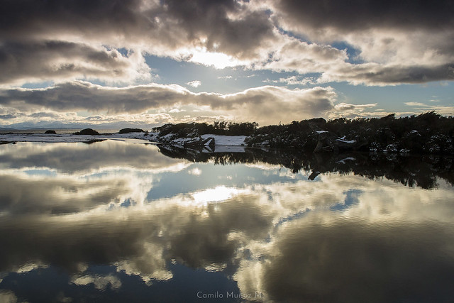 reflejo de nubes