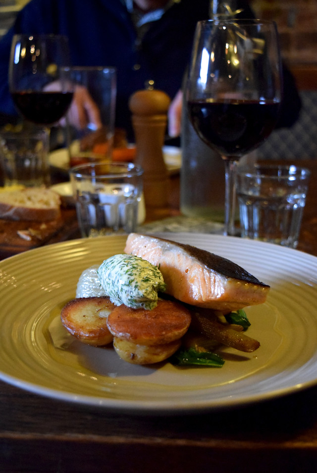Confit Salmon at The Compasses Inn, Crundale