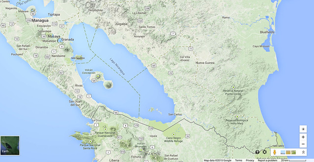 Lake Nicaragua with Ometepe in it - part of a Chinese trans-american-canal project