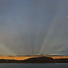 Anti-Crepuscular Rays Over Topaz Lake by Jeffrey Sullivan